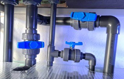 3.900-Liter-Zuchtblock – Pumpen und Verrohrung